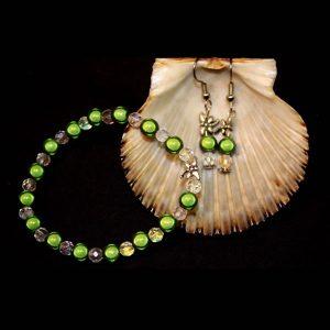 Heart Healing Green Bracelet Set